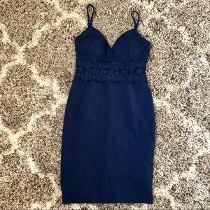 Dark Blue Bodycon Mini Dress